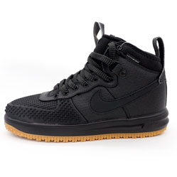 Высокие черные кроссовки Nike Lunar Force 1 Duckboot. Топ качество!