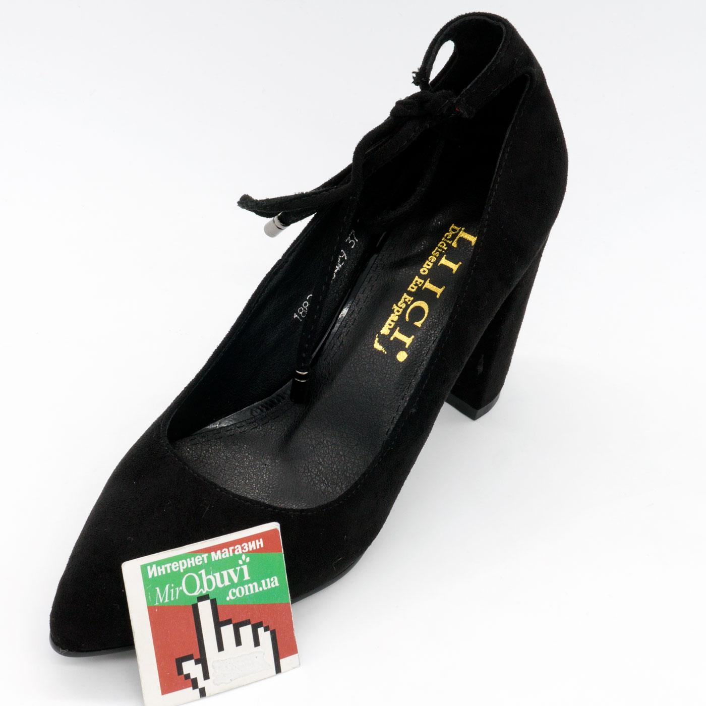 фото front Женские туфли LIICI 1882-X8429 черные бант front