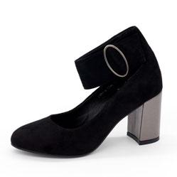 Женские туфли LIICI 2481-K7246 черные липучка