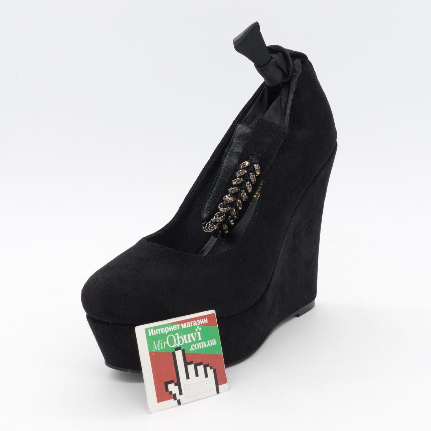 фото front Женские туфли LIICI 2098-X8141 черные на платформе  front