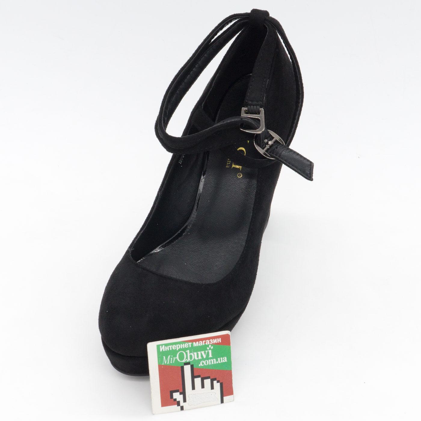 фото front Женские туфли LIICI H095-B668 черные на платформе  front