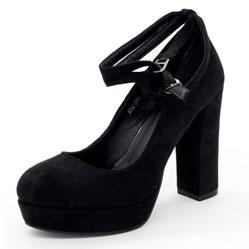 Женские туфли LIICI H095-B668 черные на платформе