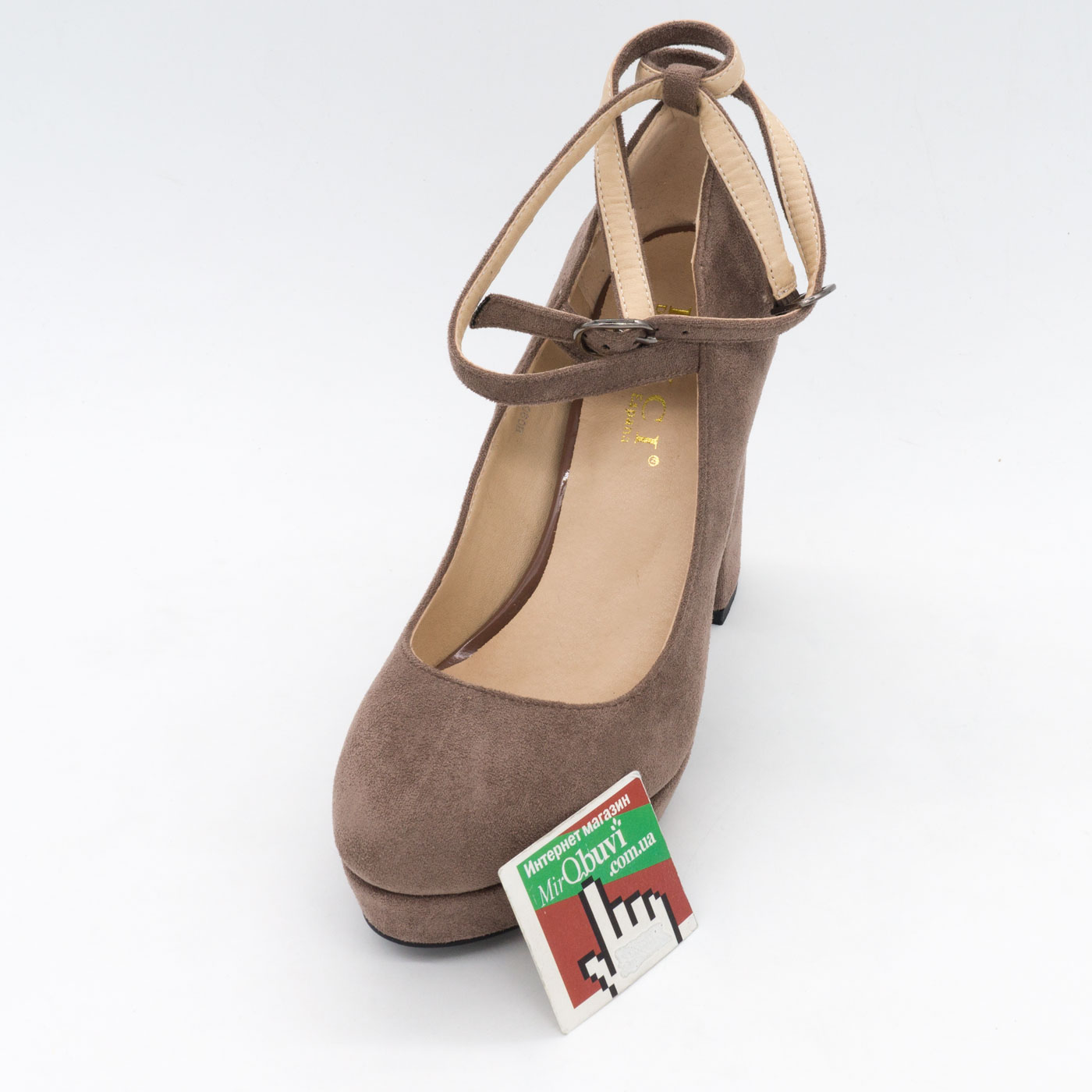 фото front Женские туфли LIICI H095-B668 Apricot на платформе  front