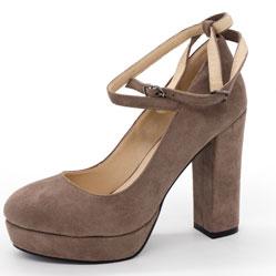 Женские туфли LIICI H095-B668 Apricot на платформе