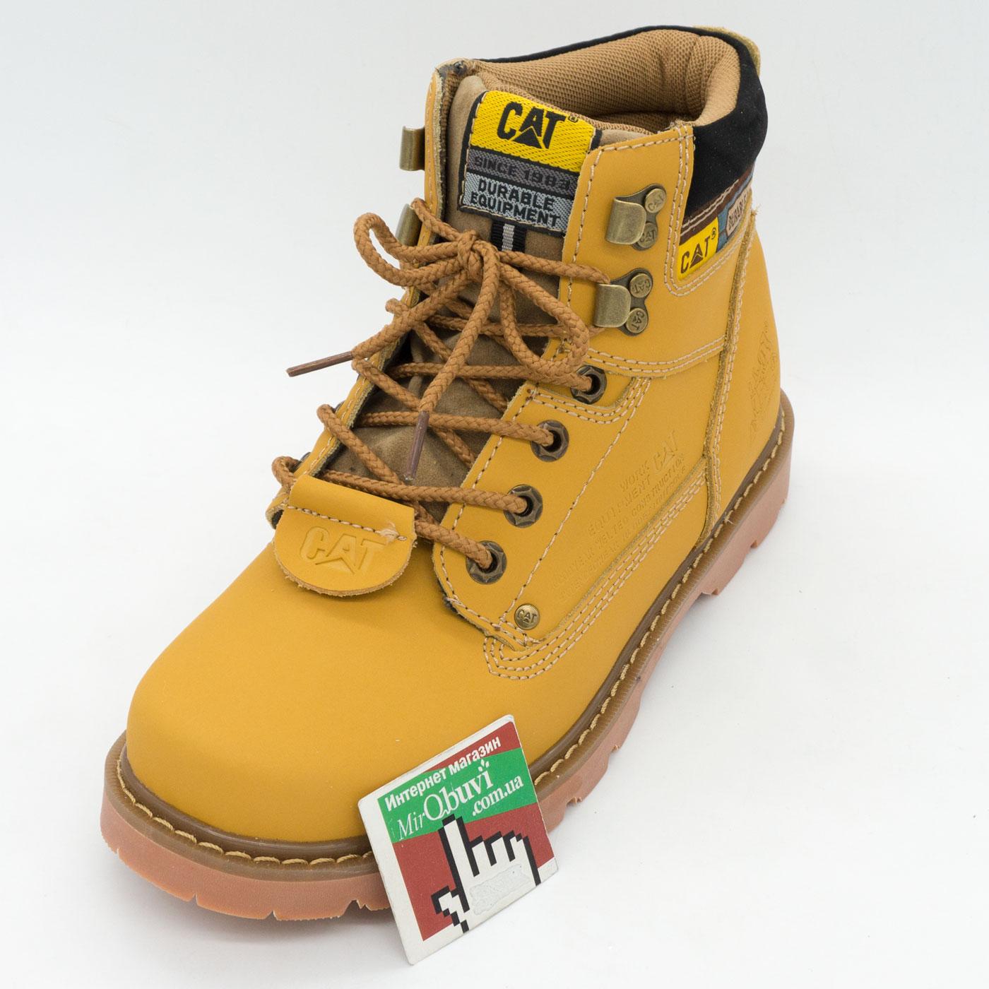фото front Желтые женские ботинки CAT (катерпиллер)  front