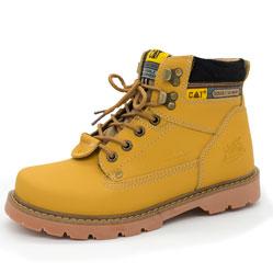 Желтые женские ботинки CAT (катерпиллер)