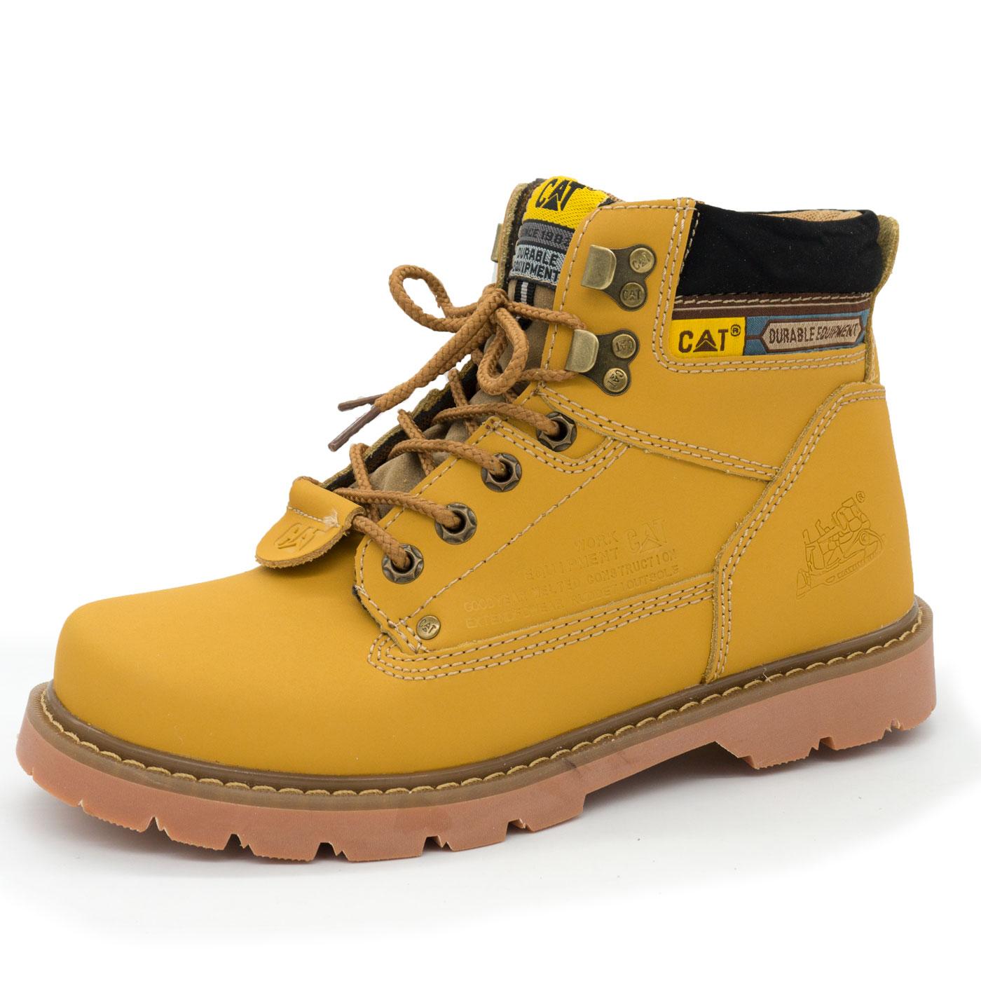 фото main Желтые женские ботинки CAT (катерпиллер)  main