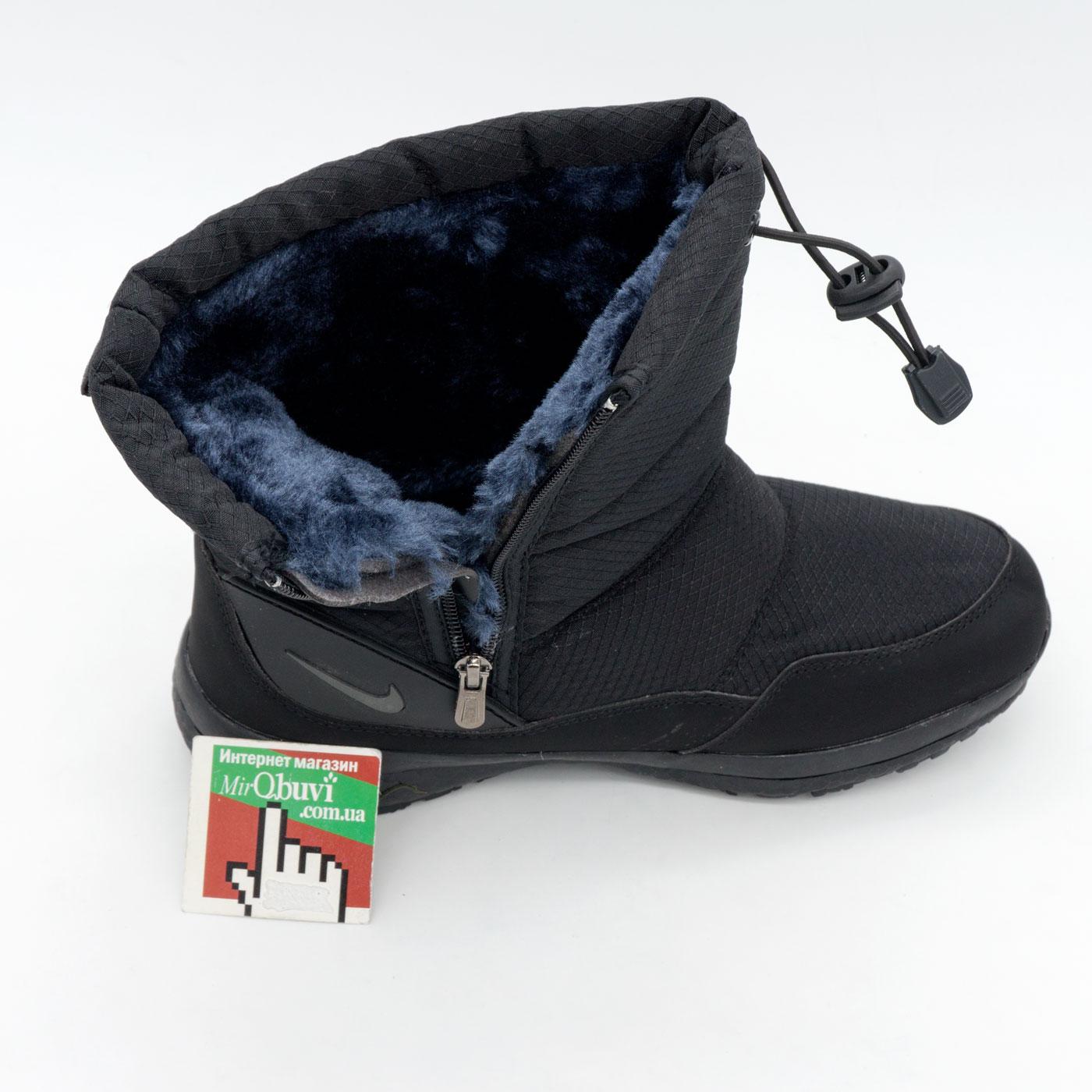 фото back Зимние женские черные дутики с мехом Nike back