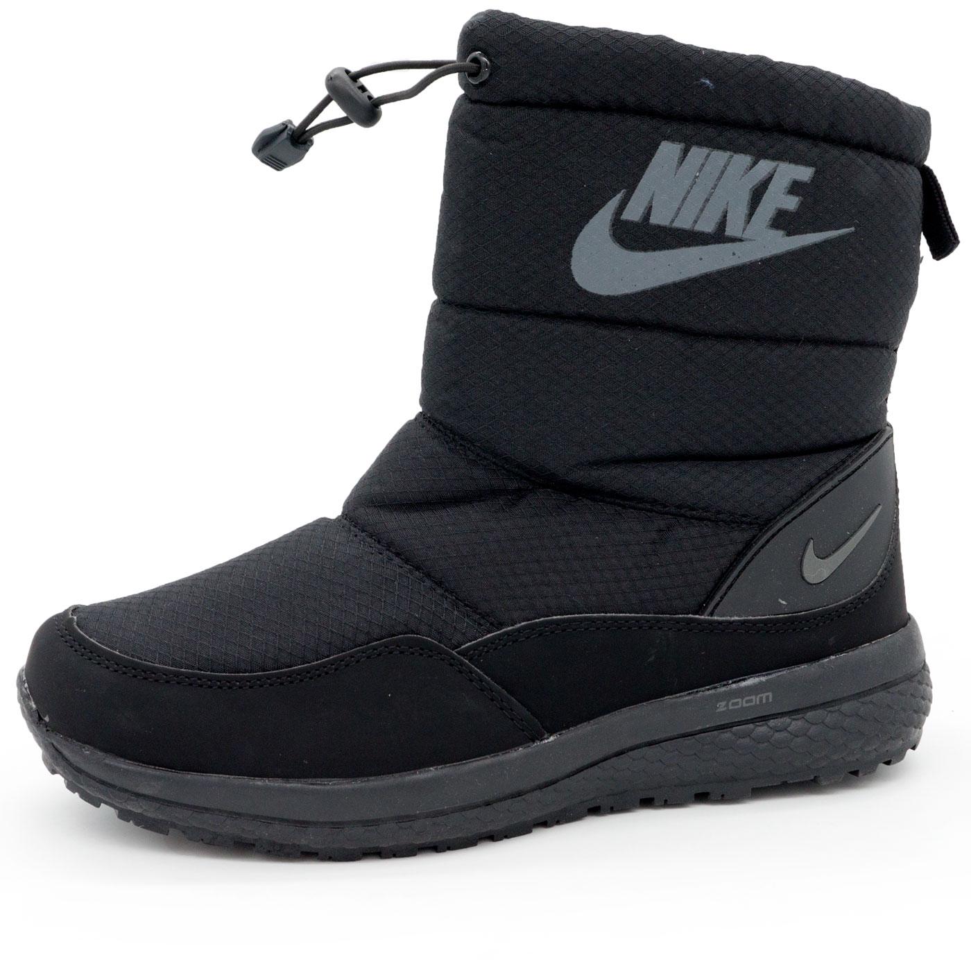 фото main Зимние женские черные дутики с мехом Nike main