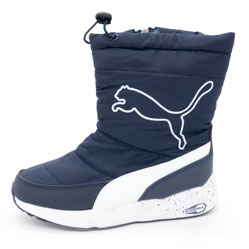Зимние женские синие дутики с мехом Puma