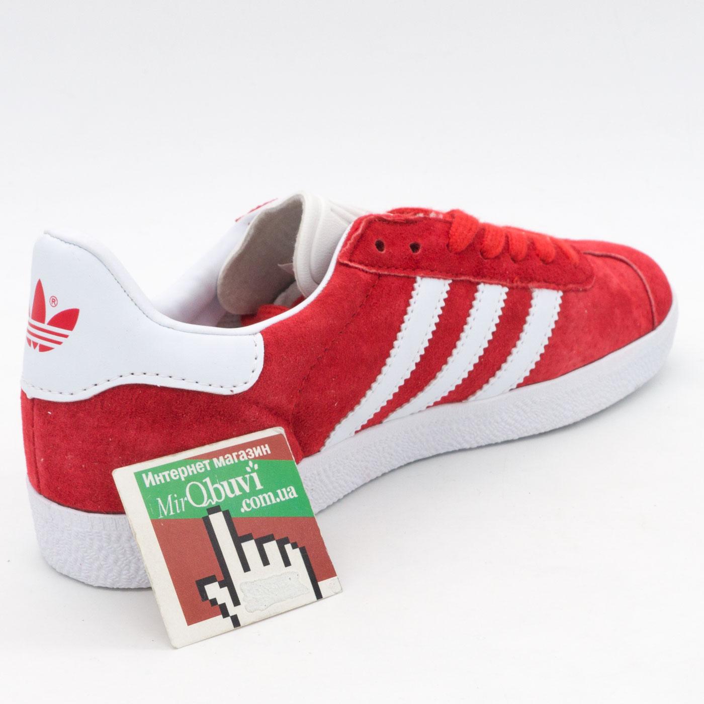 фото back Красные кроссовки Adidas Gazelle натуральная замша,  Vietnam - Топ качество! back