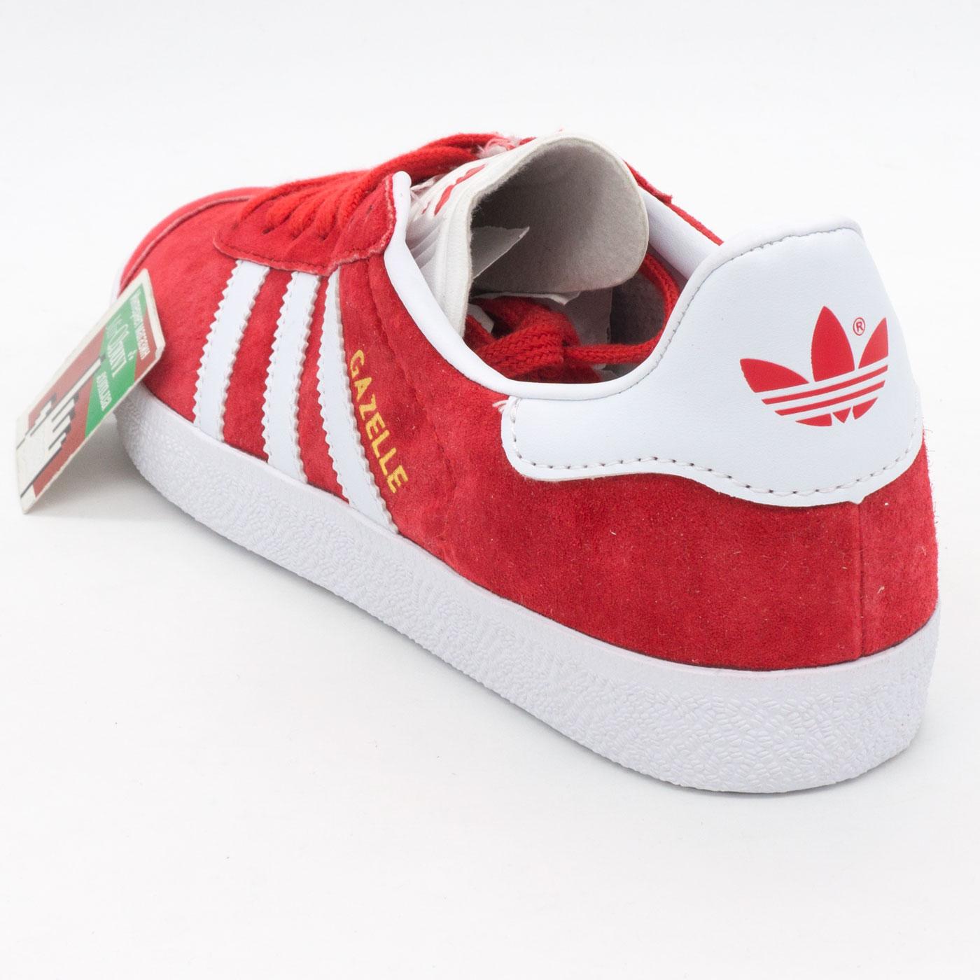 фото front Красные кроссовки Adidas Gazelle натуральная замша,  Vietnam - Топ качество! front