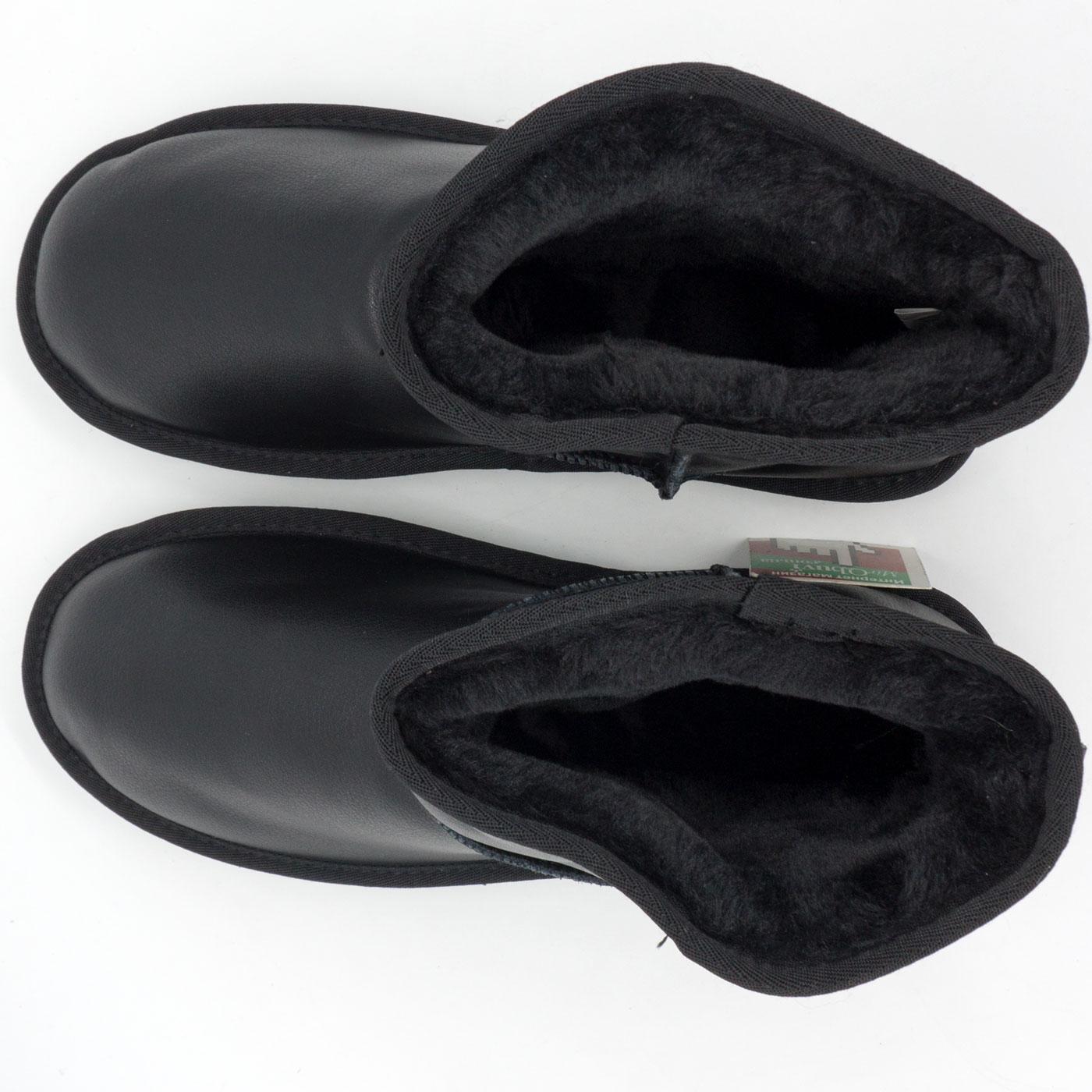 фото back Мужские черные кожаные Ugg (Уги) back