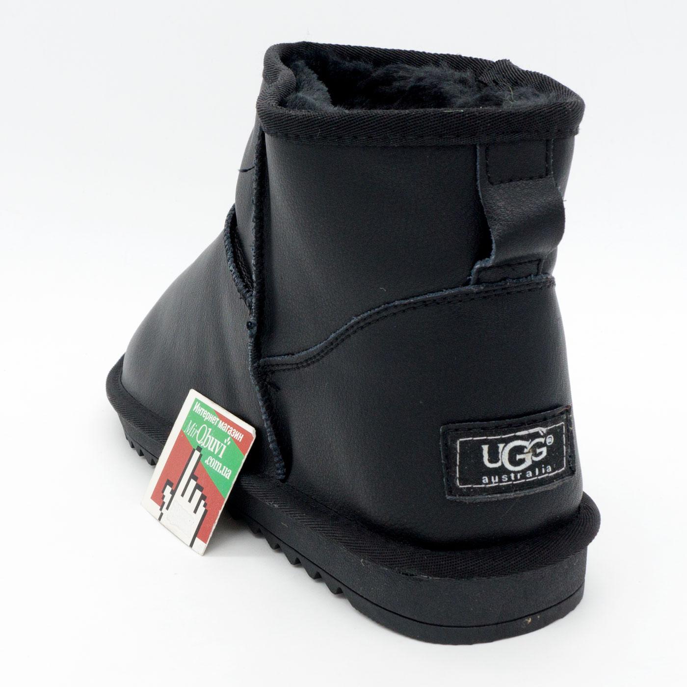 фото front Мужские черные кожаные Ugg (Уги) front