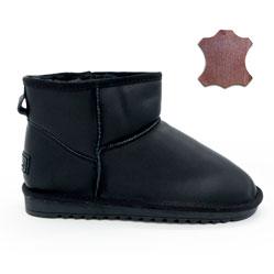 Мужские черные кожаные Ugg (Уги)