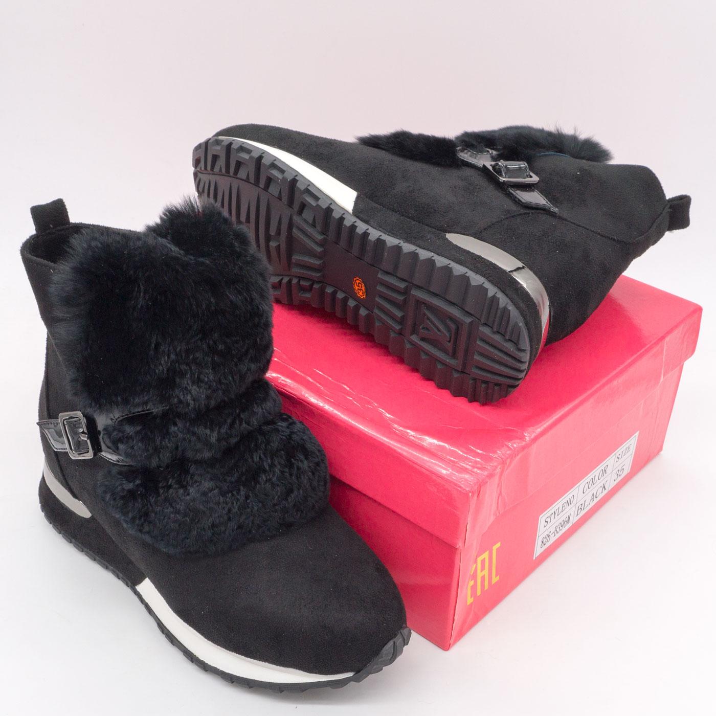 фото bottom Зимние высокие черные кроссовки LICCI 826-B396M bottom