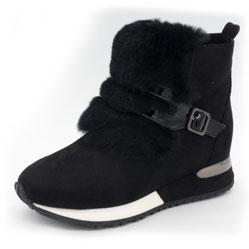 Зимние высокие черные кроссовки LICCI 826-B396M