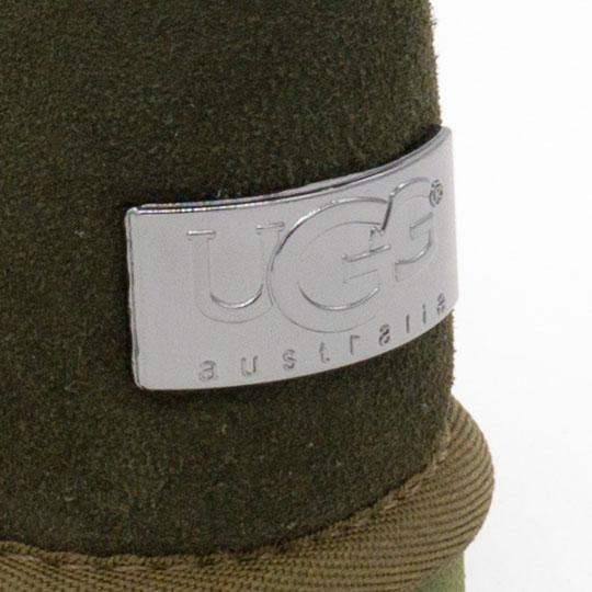 фото back Высокие зимние женские UGG (Уги) зеленые замша. back