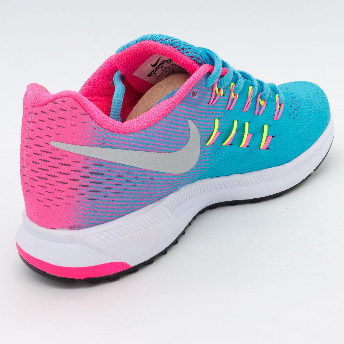 фото back Женские кроссовки для бега Nike Zoom Pegasus 33 голубые. Топ качество! back