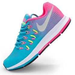Женские кроссовки для бега Nike Zoom Pegasus 33 голубые. Топ качество!