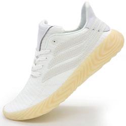 Кроссовки Adidas Sobakov белые с желтой подошвой, рефлективные. Топ качество!