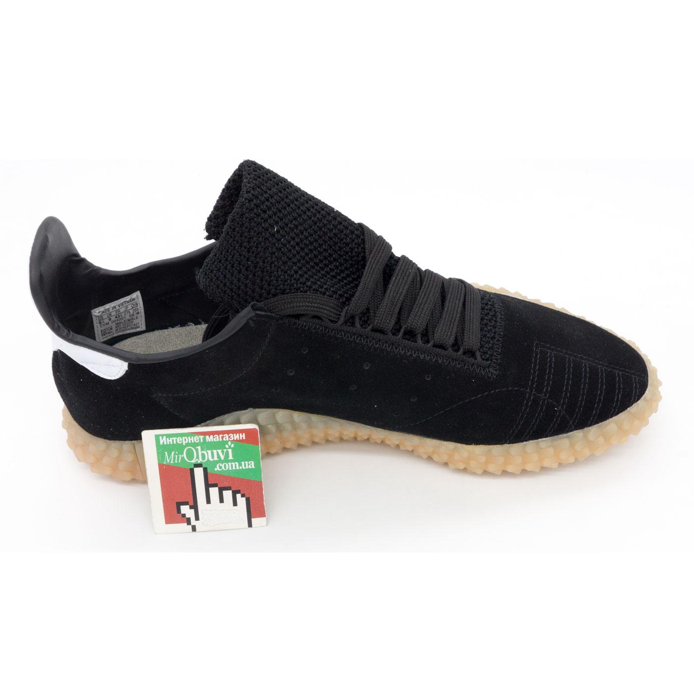 фото back Кожаные кроссовки Adidas Kamanda черные. Топ качество! back
