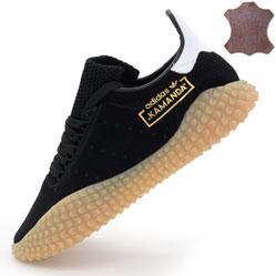 Кожаные кроссовки Adidas Kamanda черные. Топ качество!
