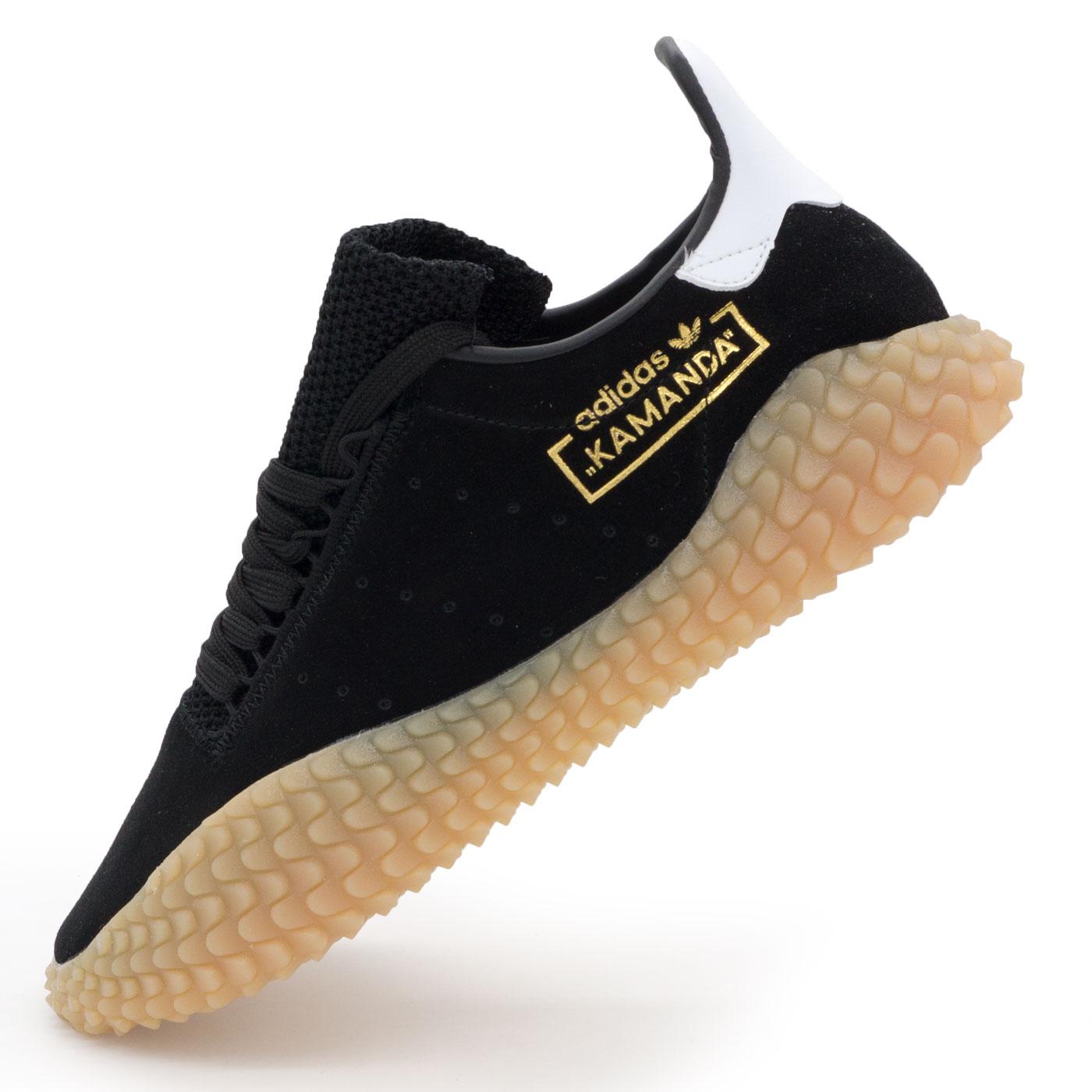 фото main Кожаные кроссовки Adidas Kamanda черные. Топ качество! main