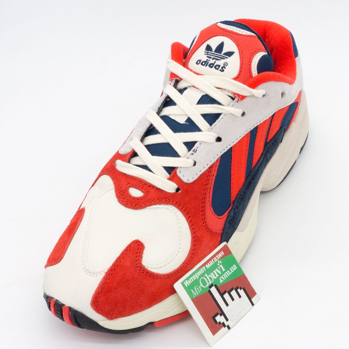 фото back Кроссовки Adidas Yung-1 красные, натуральная замша. Топ качество! back