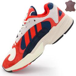 Кроссовки Adidas Yung-1 красные, натуральная замша. Топ качество!
