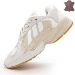 Кроссовки Adidas Yung-1 бежевые, натуральная замша. Топ качество!