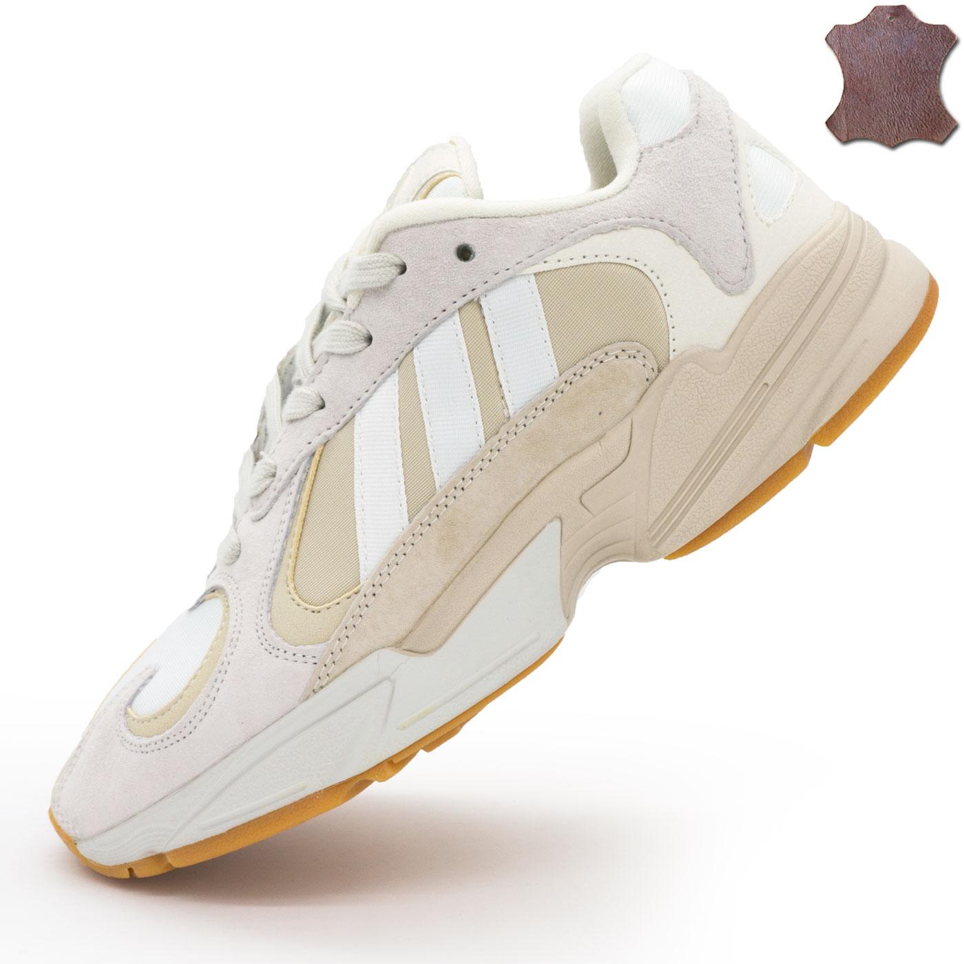 фото main Кроссовки Adidas Yung-1 бежевые, натуральная замша. Топ качество! main