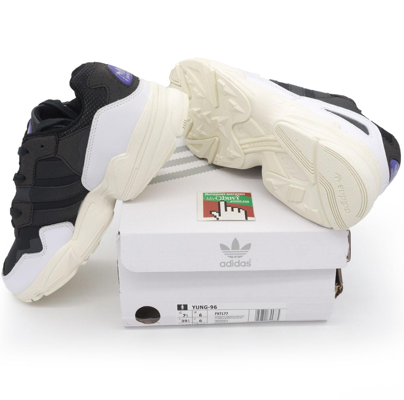 фото bottom Кроссовки Adidas Yung-96 черно-белые. Топ качество! bottom