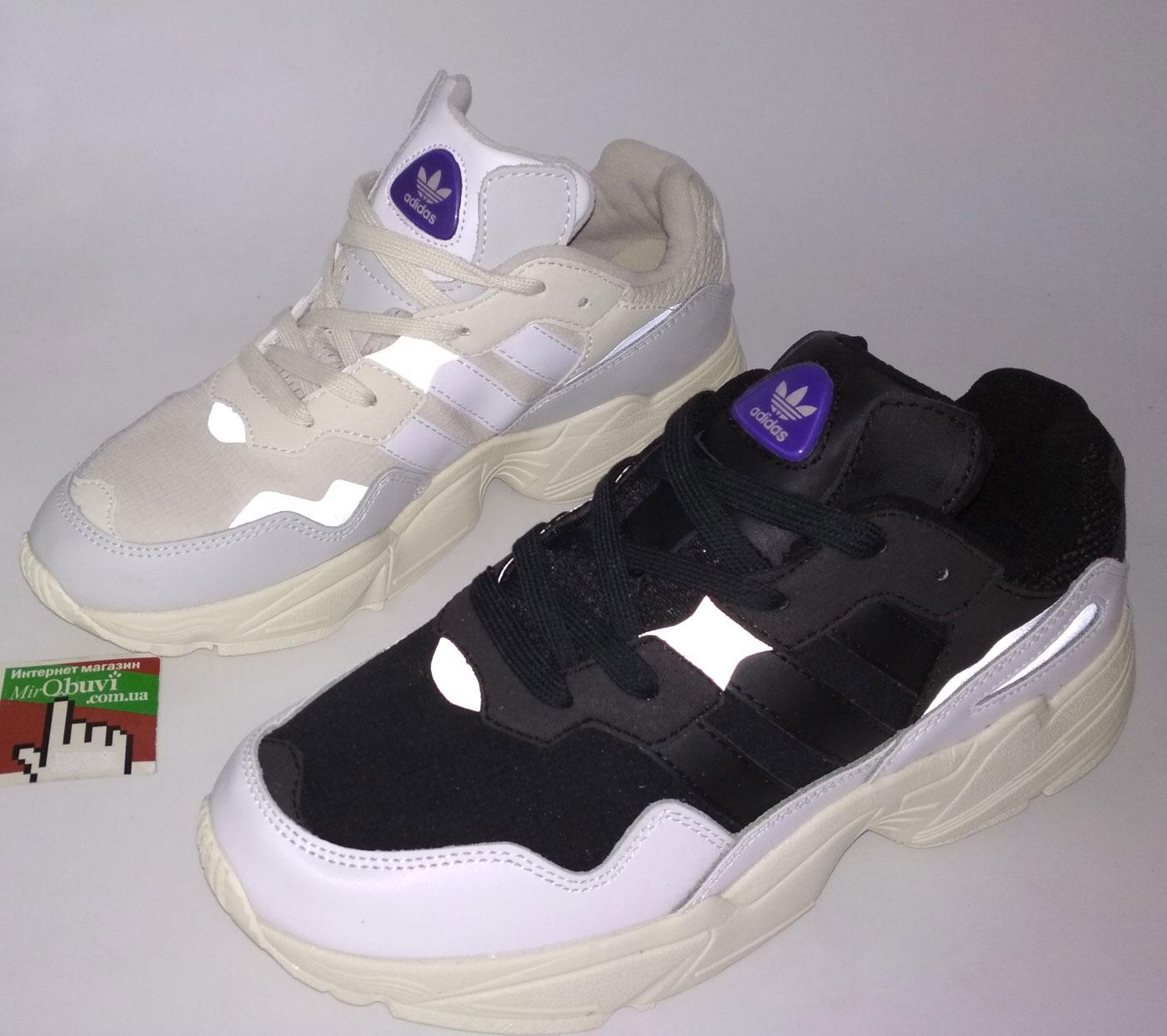 большое фото №6 Кроссовки Adidas Yung-96 черно-белые. Топ качество!