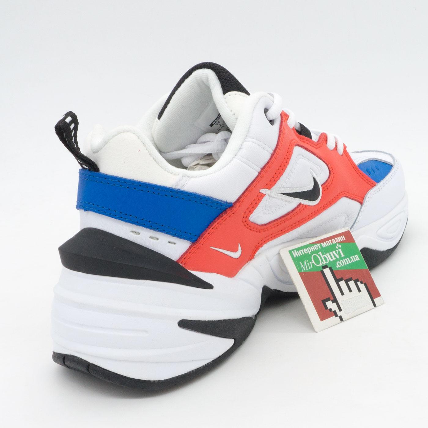 фото back Кроссовки Nike M2K Tekno белые с красним и синем. Топ качество! back