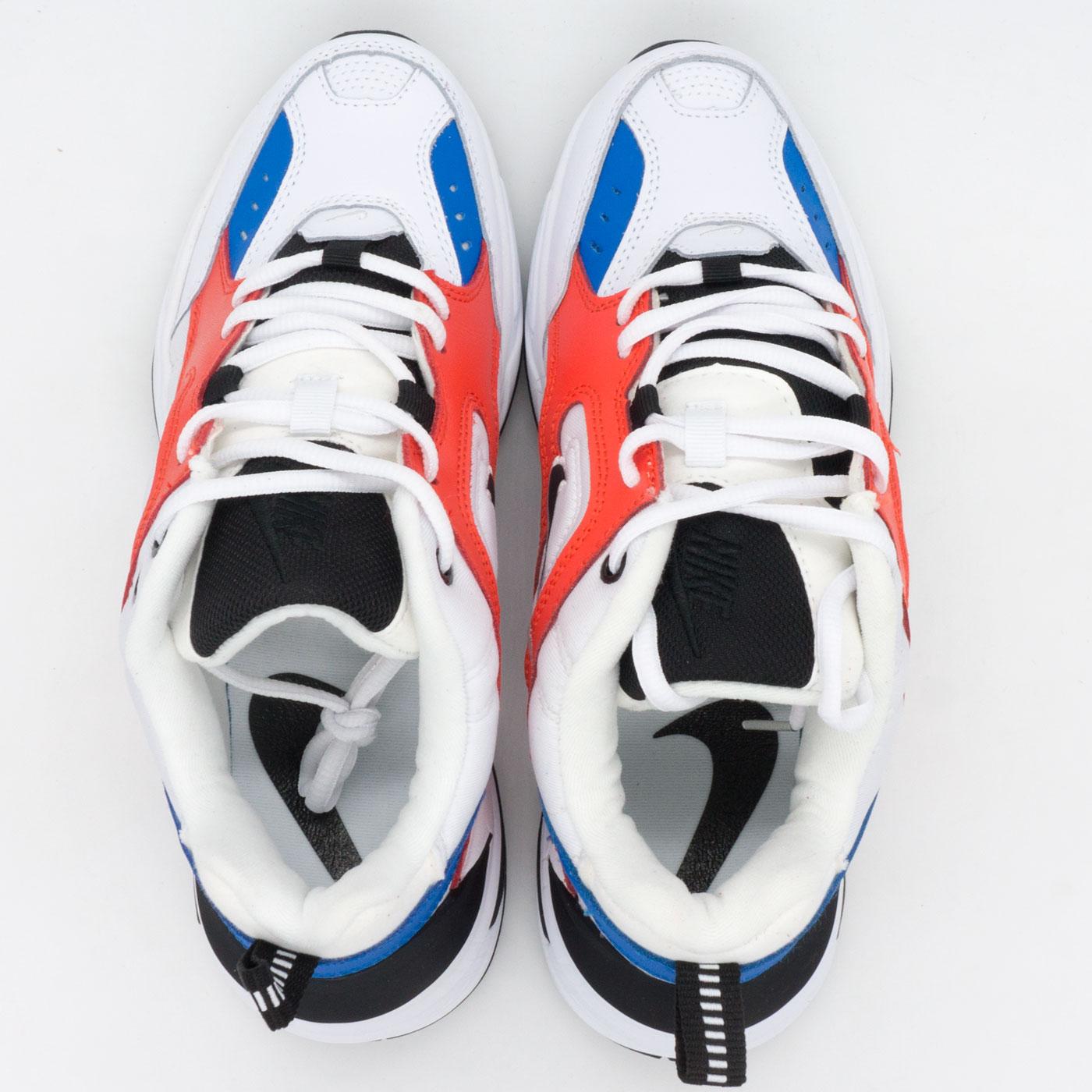 фото bottom Кроссовки Nike M2K Tekno белые с красним и синем. Топ качество! bottom