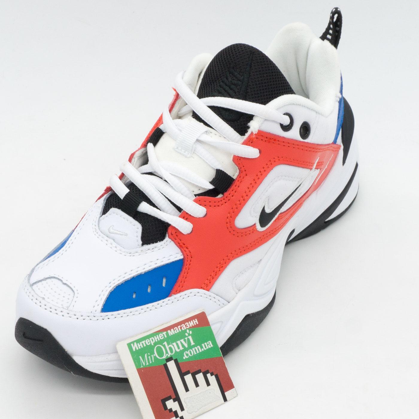 фото front Кроссовки Nike M2K Tekno белые с красним и синем. Топ качество! front