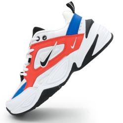 Кроссовки Nike M2K Tekno белые с красним и синем. Топ качество!