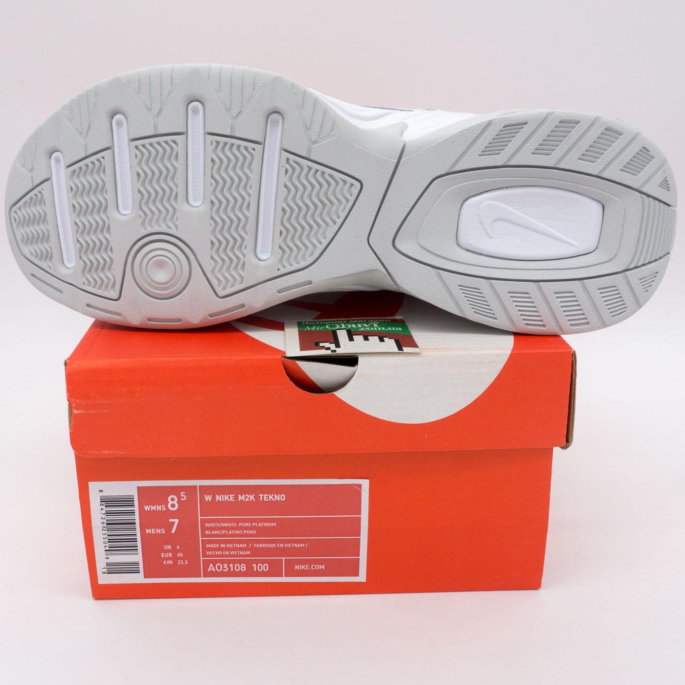 фото back Кроссовки Nike M2K Tekno полностью белые. Топ качество! back