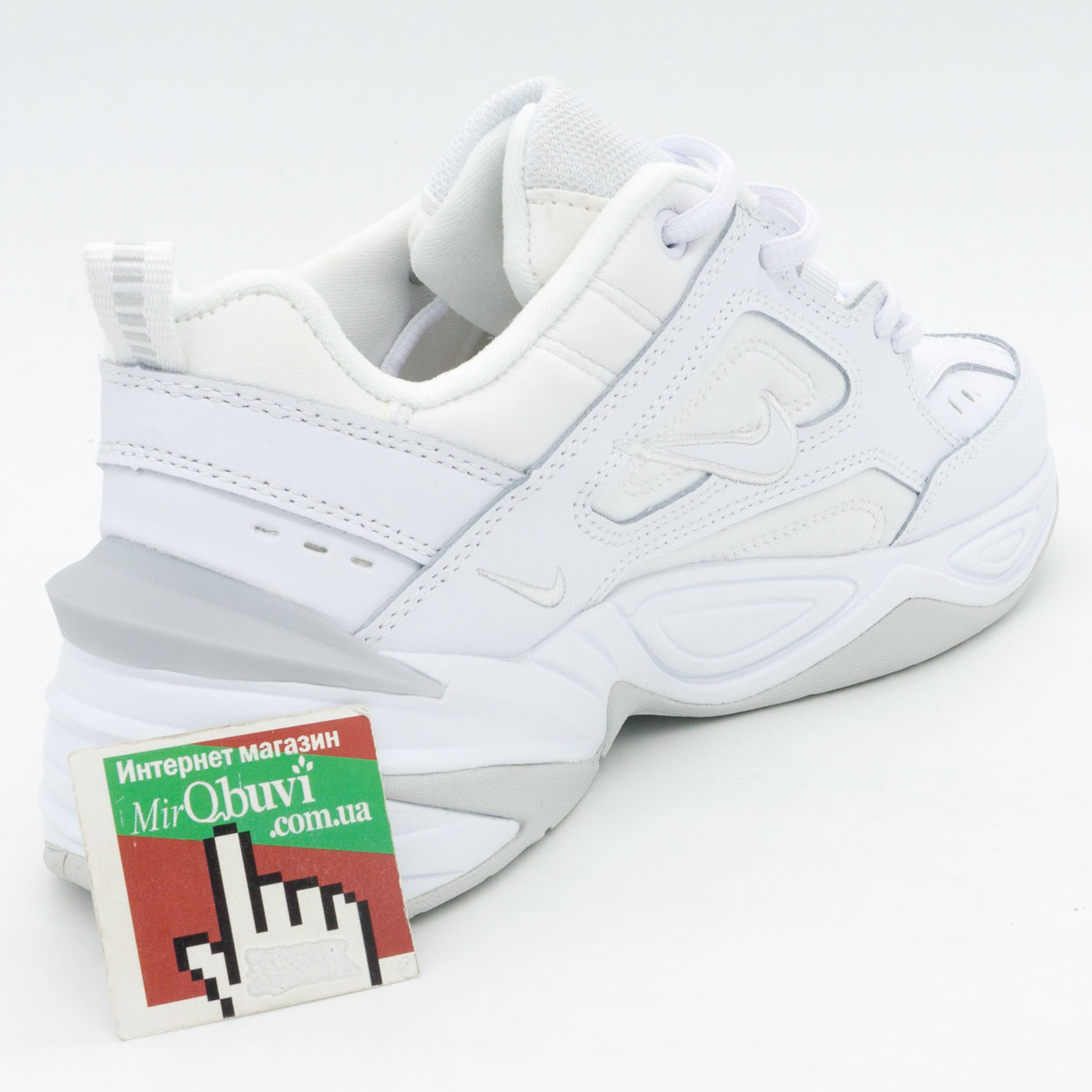 фото bottom Кроссовки Nike M2K Tekno полностью белые. Топ качество! bottom