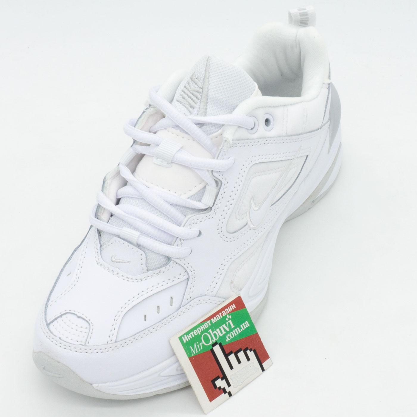 фото front Кроссовки Nike M2K Tekno полностью белые. Топ качество! front