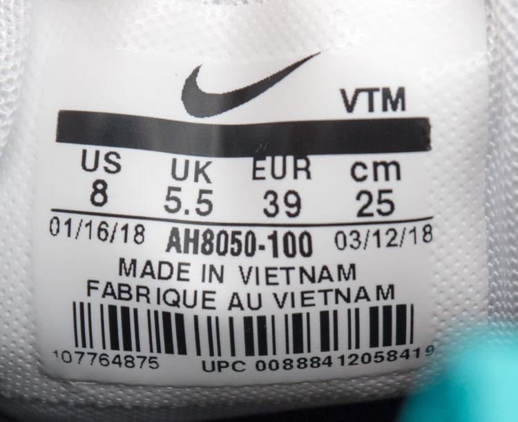 большое фото №6 Кроссовки Nike Air Max 270 белые, бирюзовый значек.