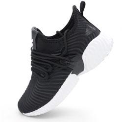 Женские кроссовки Adidas Alphabounce Instinct черно-белые.