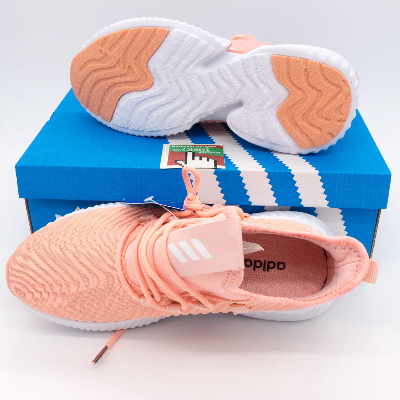 фото bottom Женские кроссовки Adidas Alphabounce Instinct персик. bottom