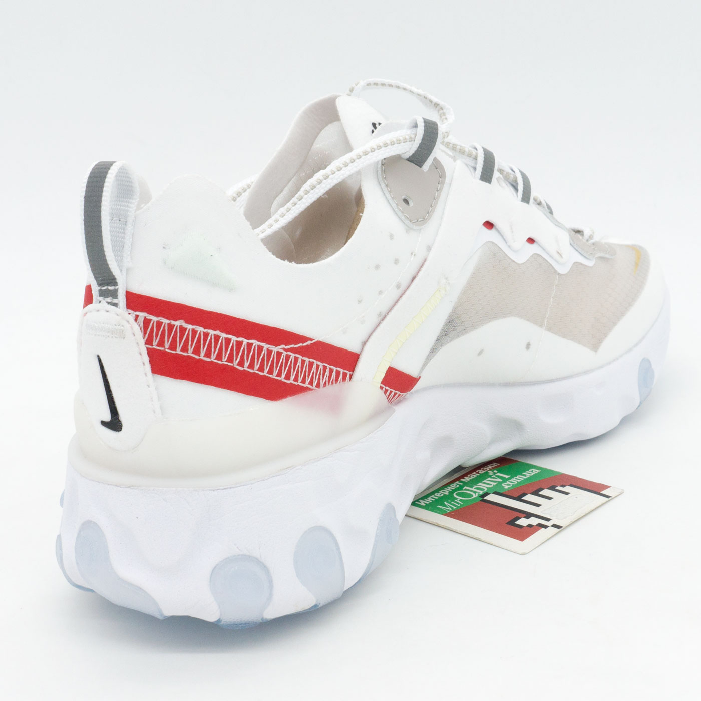 фото back Кроссовки Nike React 87 Undercover белые с красным. Топ качество! back