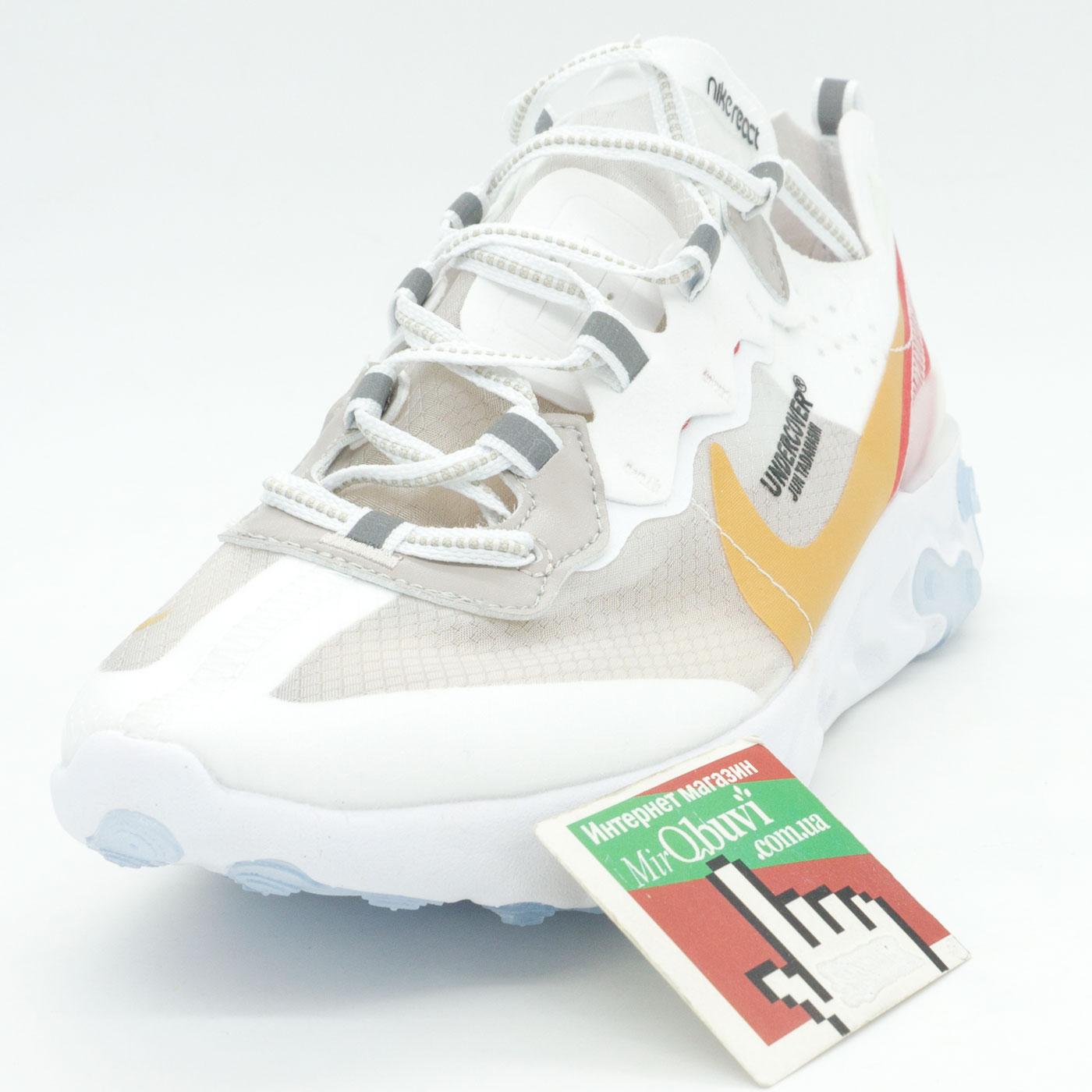 фото front Кроссовки Nike React 87 Undercover белые с красным. Топ качество! front
