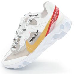 Кроссовки Nike React 87 Undercover белые с красным. Топ качество!