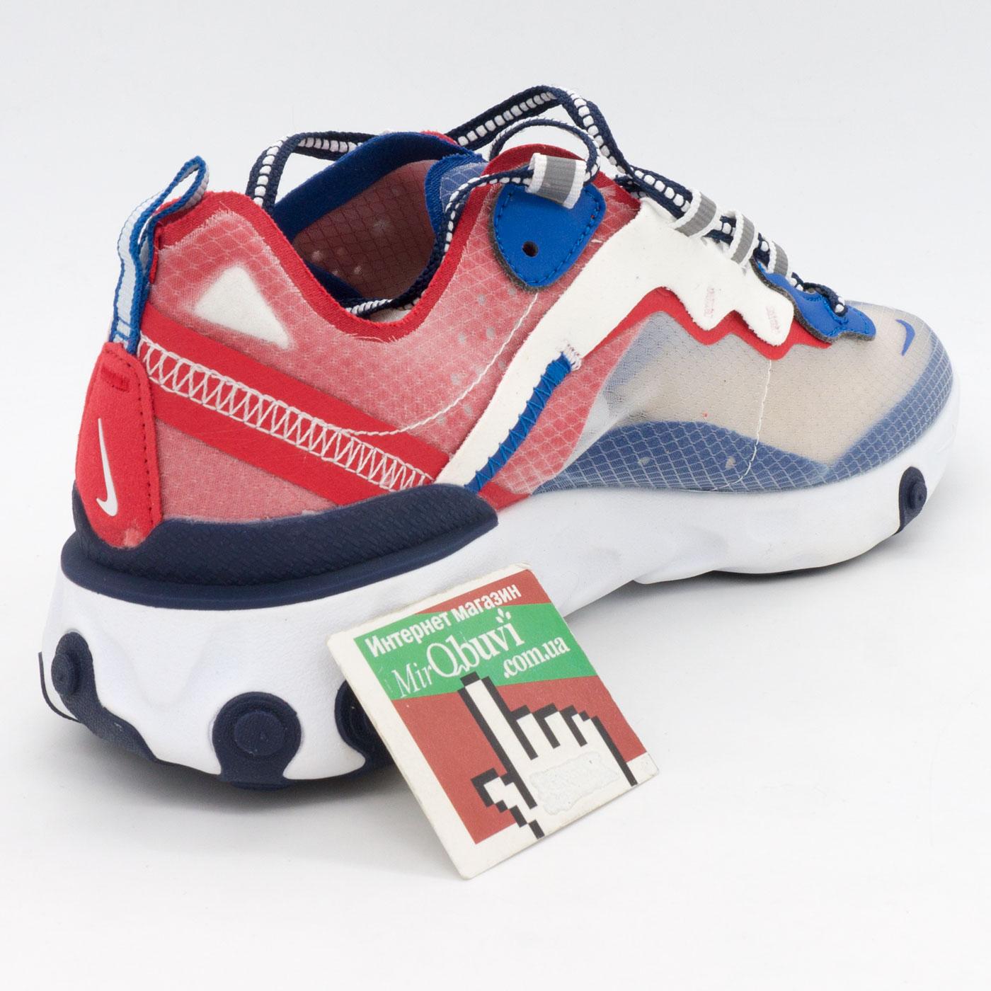фото back Кроссовки Nike React 87 Undercover синие с красным. Топ качество! back