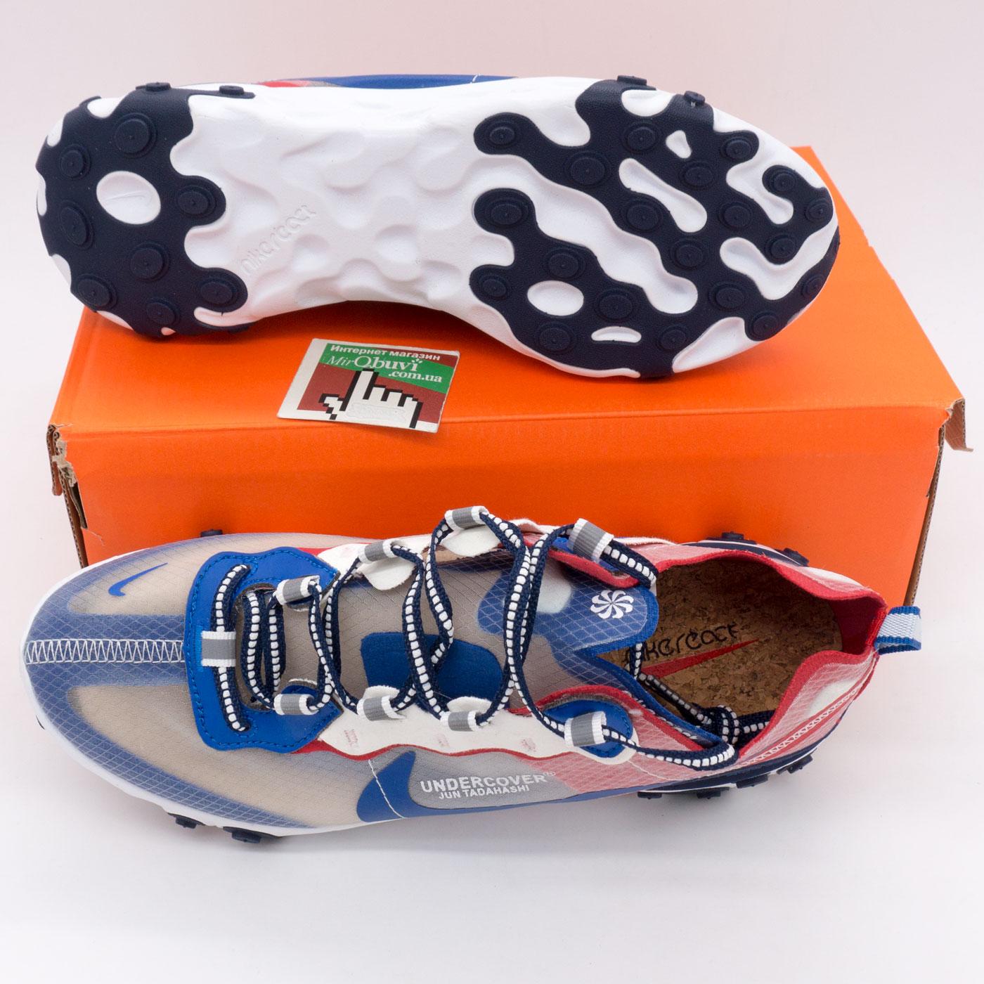 фото bottom Кроссовки Nike React 87 Undercover синие с красным. Топ качество! bottom