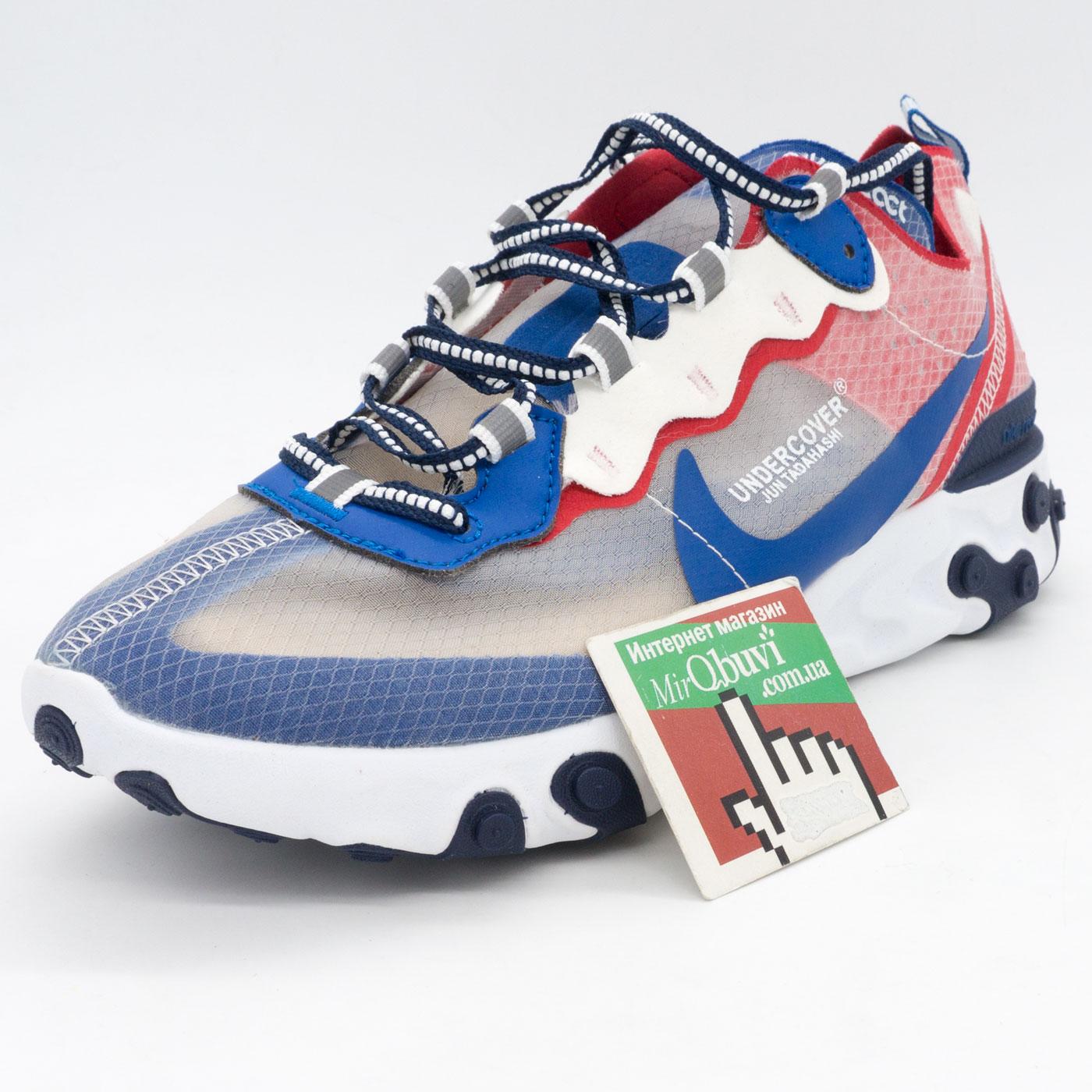 фото front Кроссовки Nike React 87 Undercover синие с красным. Топ качество! front